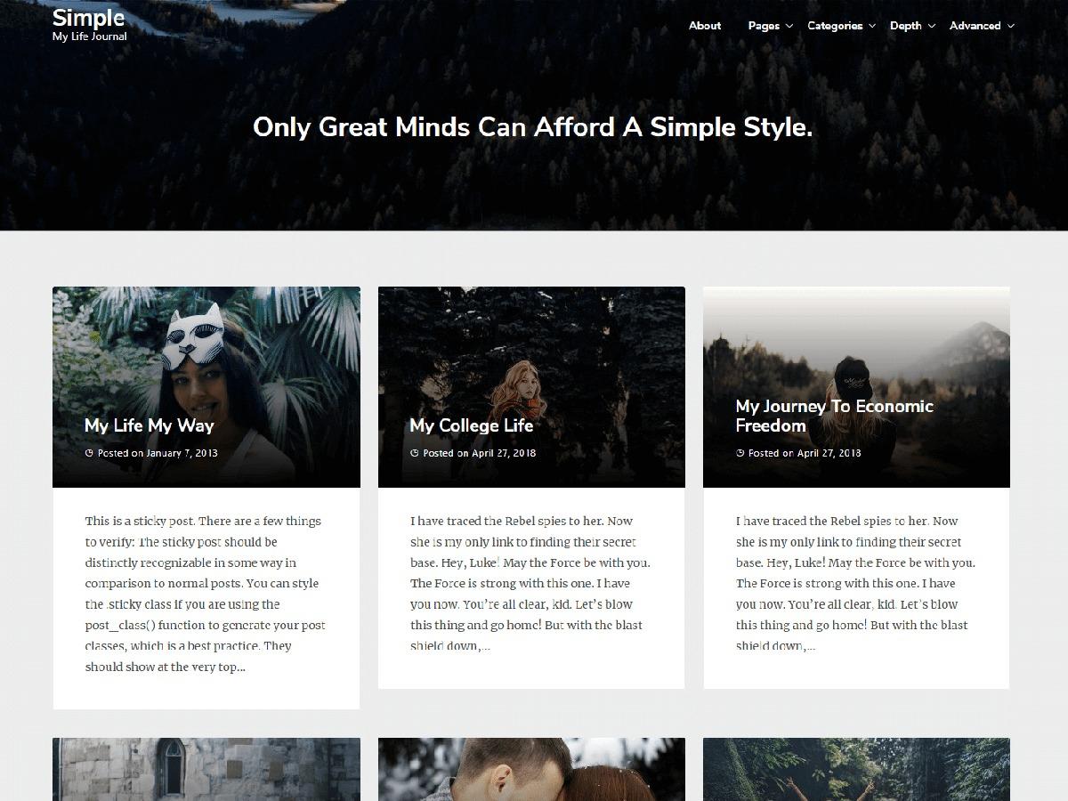 Best Simple WordPress blog theme