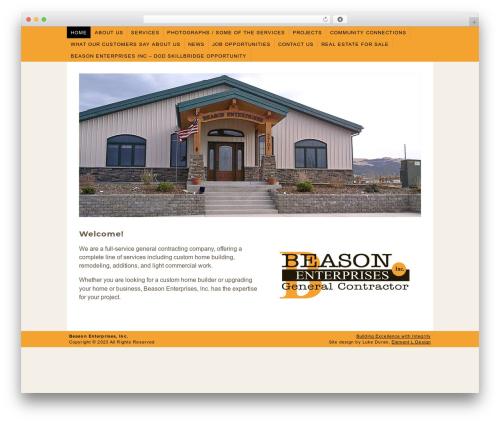 Best WordPress template Beason Enterprises - beasonenterprises.com