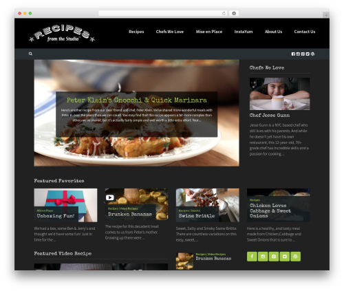 Cookbook WordPress theme - recipesfromthestudio.com