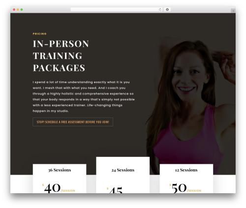 Divi WordPress theme - traininglifeonline.com