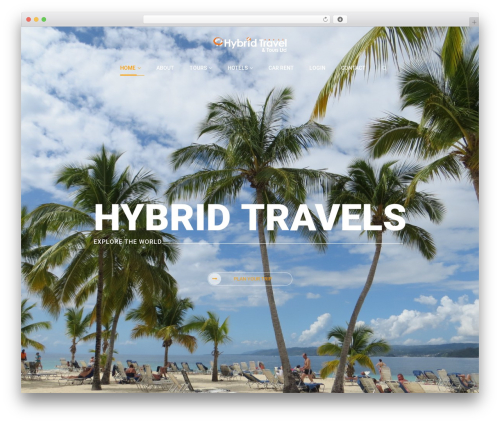 Exploore best WordPress template - hybridtravels.com
