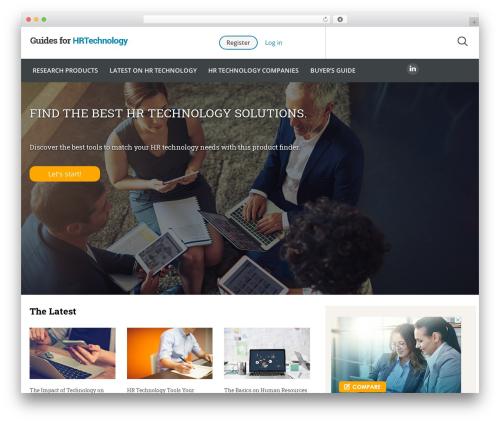 Guides for CRM Wordpress Theme WordPress theme - guidesforhrtechnology.com