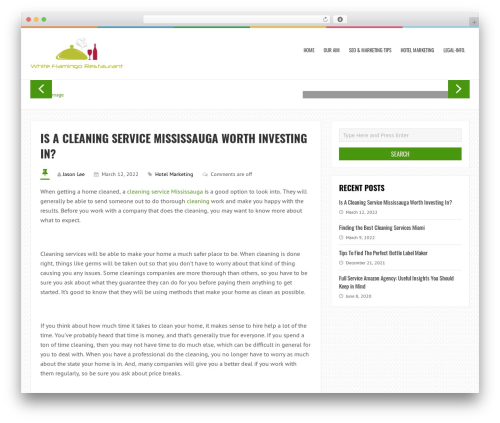 LiveBlog free website theme - whiteflamingorestaurant.com