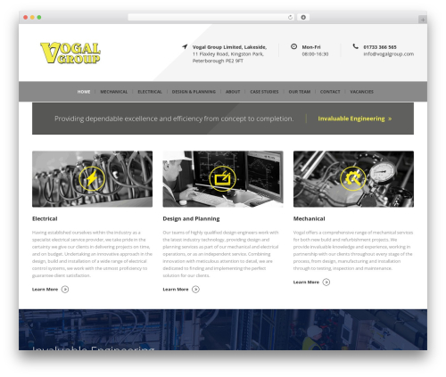 Mega Project top WordPress theme - vogalgroup.com