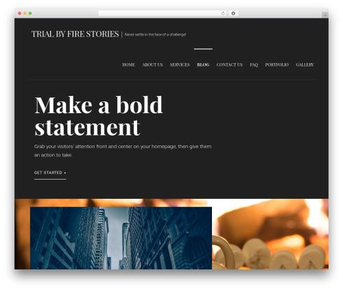 Primer template WordPress - trialbyfirestories.com
