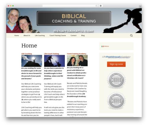 Twenty Thirteen WordPress website template - biblicalcoachingonline.com