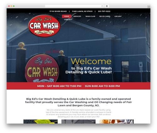 CarWash WordPress website template - bigedscarwash.com