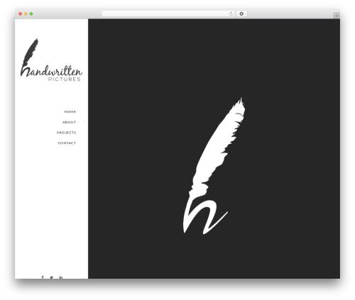 Euforia WordPress theme - handwritten-pictures.com