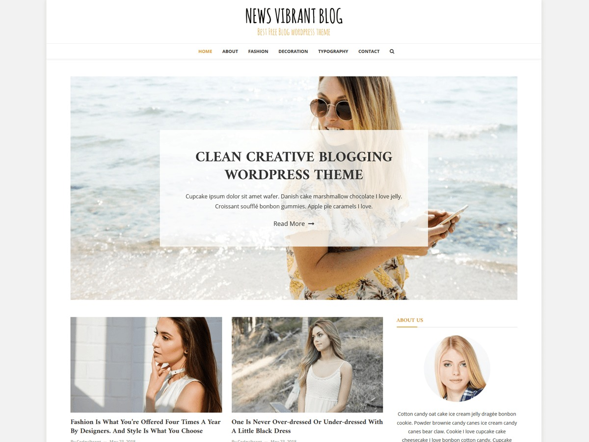 News Vibrant Blog best WordPress magazine theme