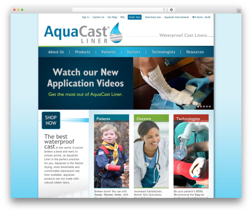 Responsive best free WordPress theme - aquacastliner.com