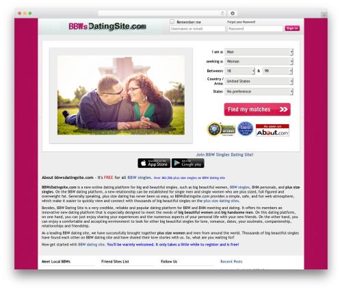 Theme WordPress D5 Socialia - bbwsdatingsite.com