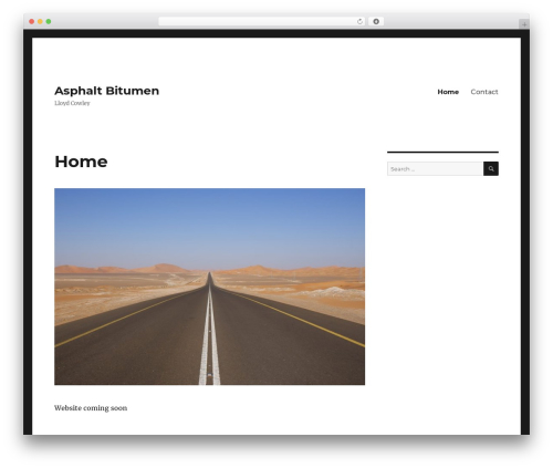 Twenty Sixteen WordPress page template - asphalt-bitumen.com