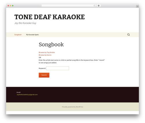 Twenty Thirteen free WordPress theme - tonedeafkaraoke.com