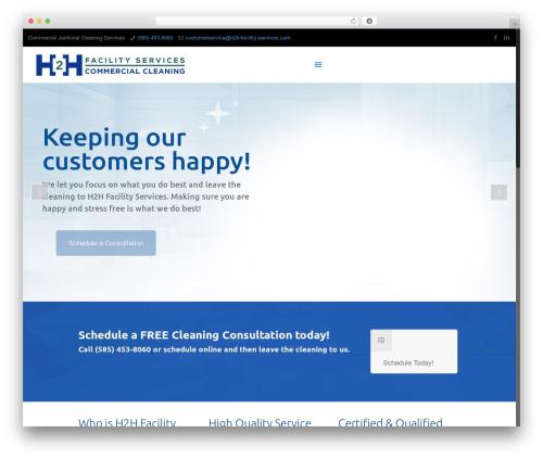 WordPress theme Betheme - h2h-facility-services.com