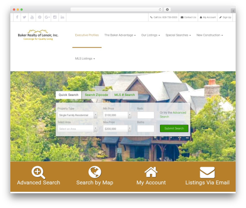 WordPress theme Deevoweb IDX Professional Child Theme - bakerrealtyhomes.com