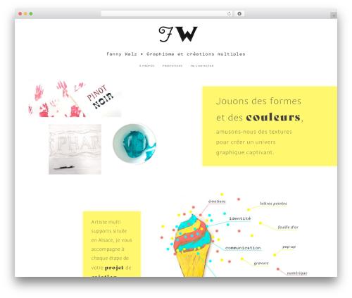 WordPress website template Maker - fannywalz.com