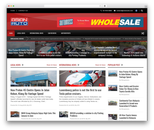 World Wide theme WordPress - asianauto.com