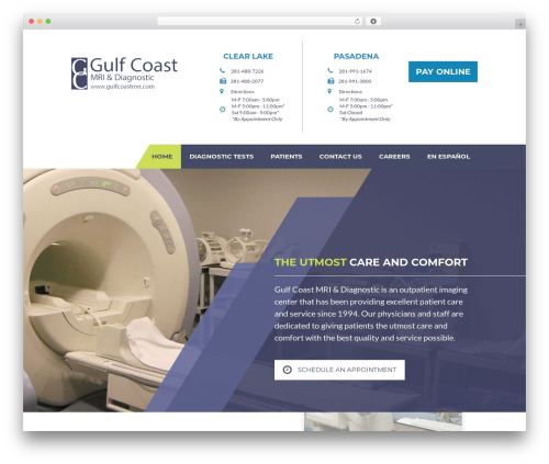 WP template Big Splash Web Design - gulfcoastmri.com