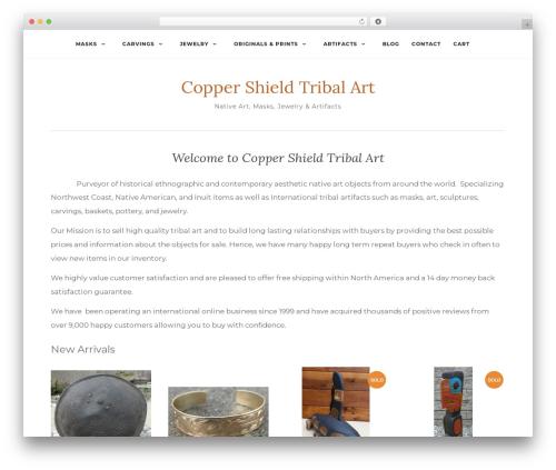 Activello template WordPress free - coppershieldtribalart.com