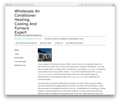 Black Line free website theme - wholesale-air-conditioner.com