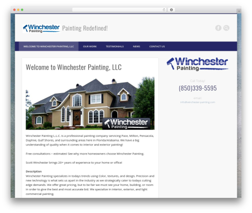 WordPress template Pinboard - winchester-painting.com