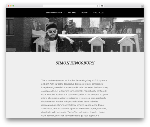 Argent best free WordPress theme - simonkingsbury.com