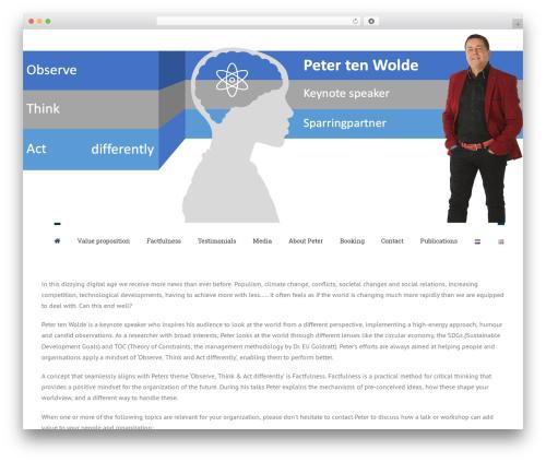Best WordPress theme Avada - petertenwolde.com