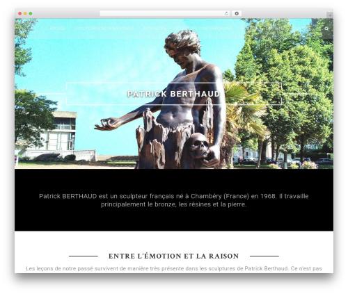 Himalayas Pro premium WordPress theme - berthaud-sculpture.com