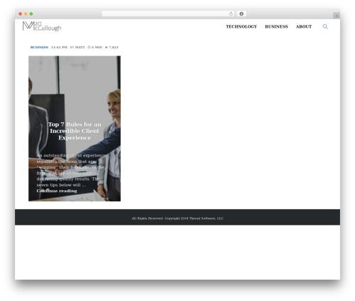 PassionBlogger WordPress blog template - mattmccullo.com