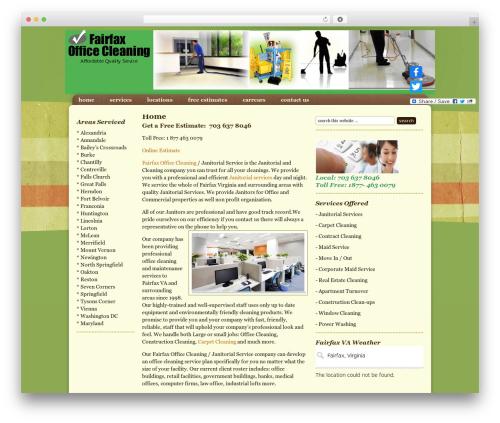 Theme WordPress Going Green Child Theme - fairfaxofficecleaning.com