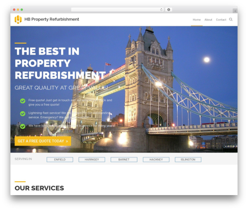 WordPress website template Off the Shelf - hbpropertyrefurbishment.com