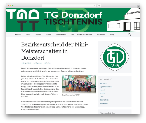 2013 Blue WordPress theme design - tgdonzdorf-tt.de
