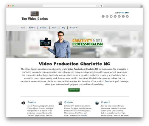 Best WordPress theme Modernize - thevideogenius.com