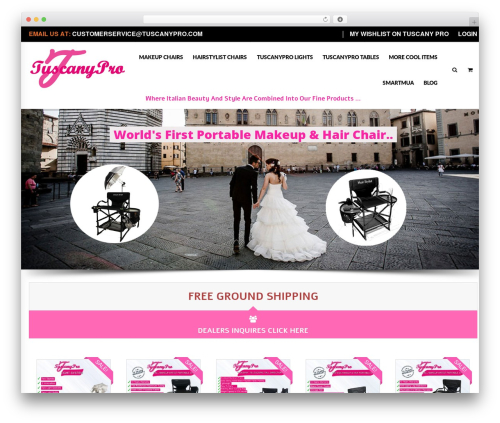 Blaszok WordPress ecommerce template - tuscanypro.com