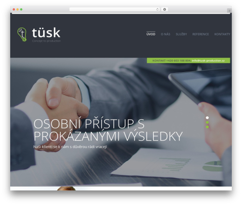 cherry template WordPress - tusk.cz