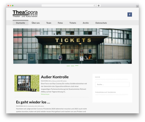 Coller best free WordPress theme - theaspora.net