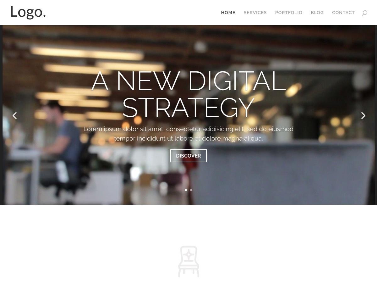 Divi creative agency WordPress blog template