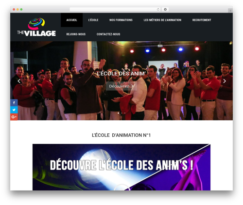 Divi WordPress page template - thevillage.fr