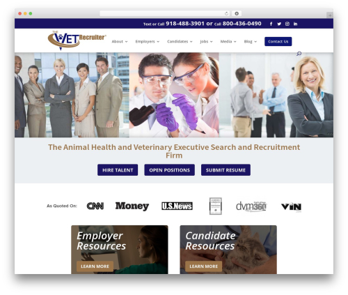 Divi WordPress template - thevetrecruiter.com