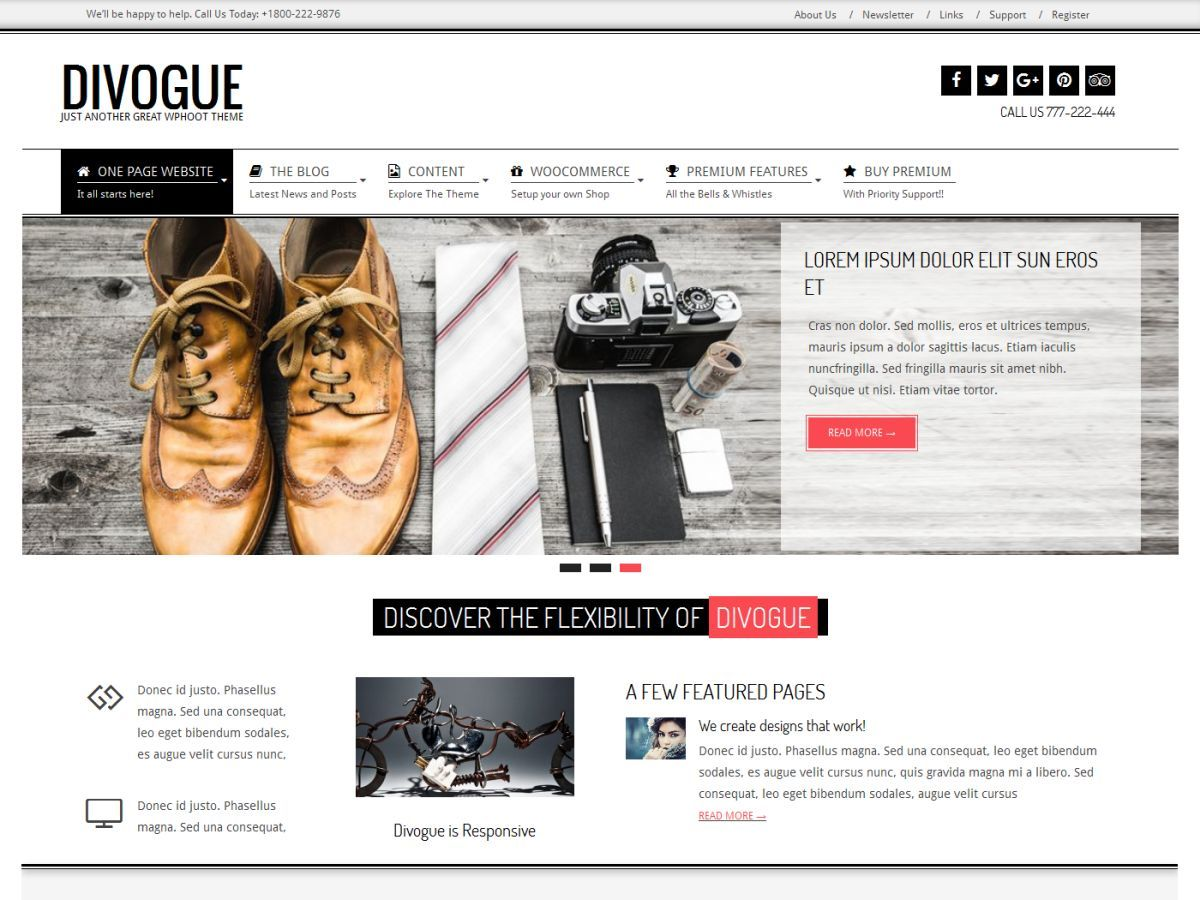 Divogue Premium WordPress shopping theme