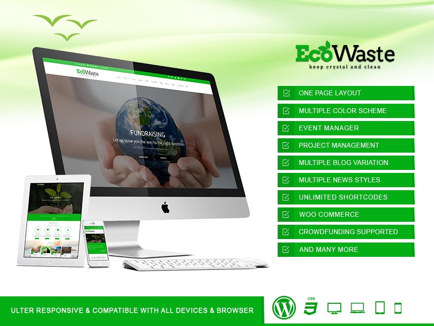 EcoWaste Wordpress Theme WordPress theme