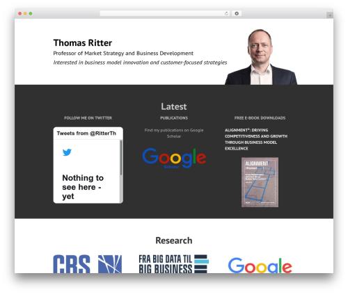 Edin template WordPress free - thomasritter.com
