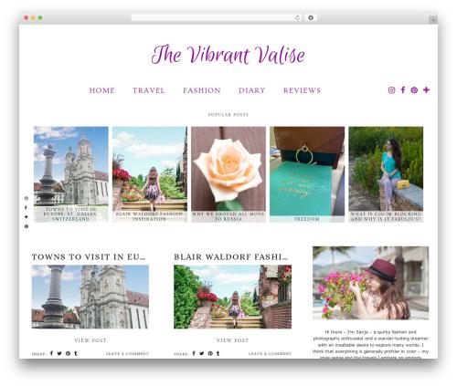 Evelyn Rose (pipdig) WordPress travel theme - thevibrantvalise.com