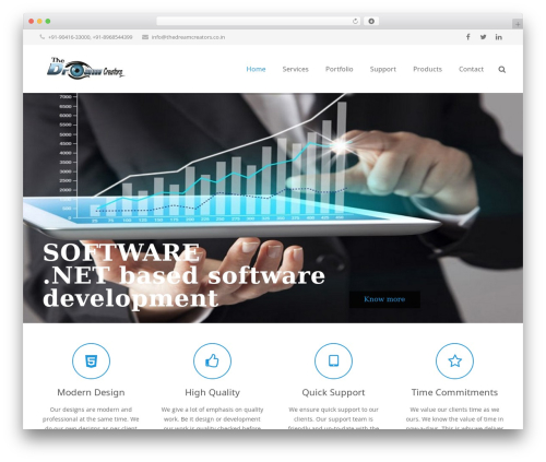 Impreza best WordPress theme - thedreamcreators.co.in