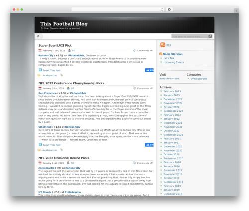 WordPress tweet-this plugin - thisfootballblog.com