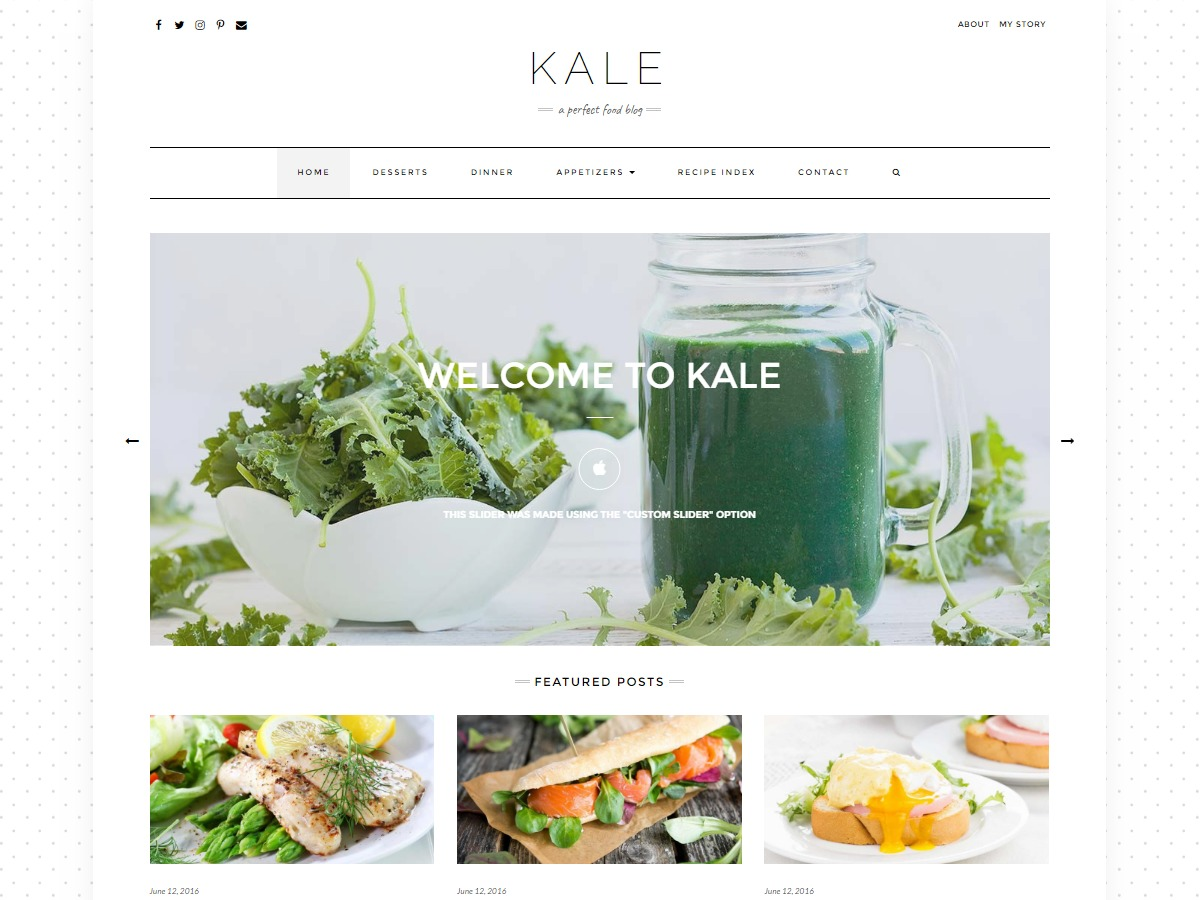 Kale Pro WordPress blog template