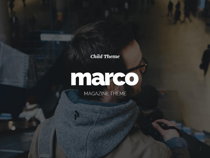 Marco - Child newspaper WordPress theme by envirra