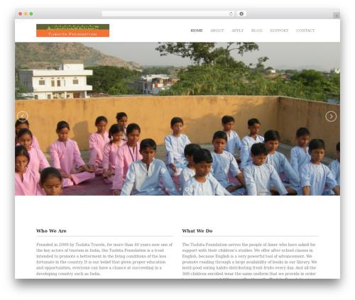 Mineral WP theme - tushitafoundationindia.org