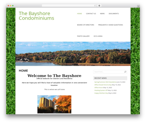 NatureSpace free WordPress theme - thebayshore.net