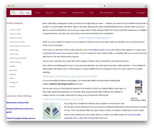 Noor best WooCommerce theme - tallit-shop.com
